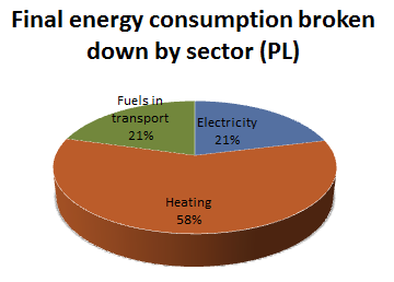 Energy by sector PL